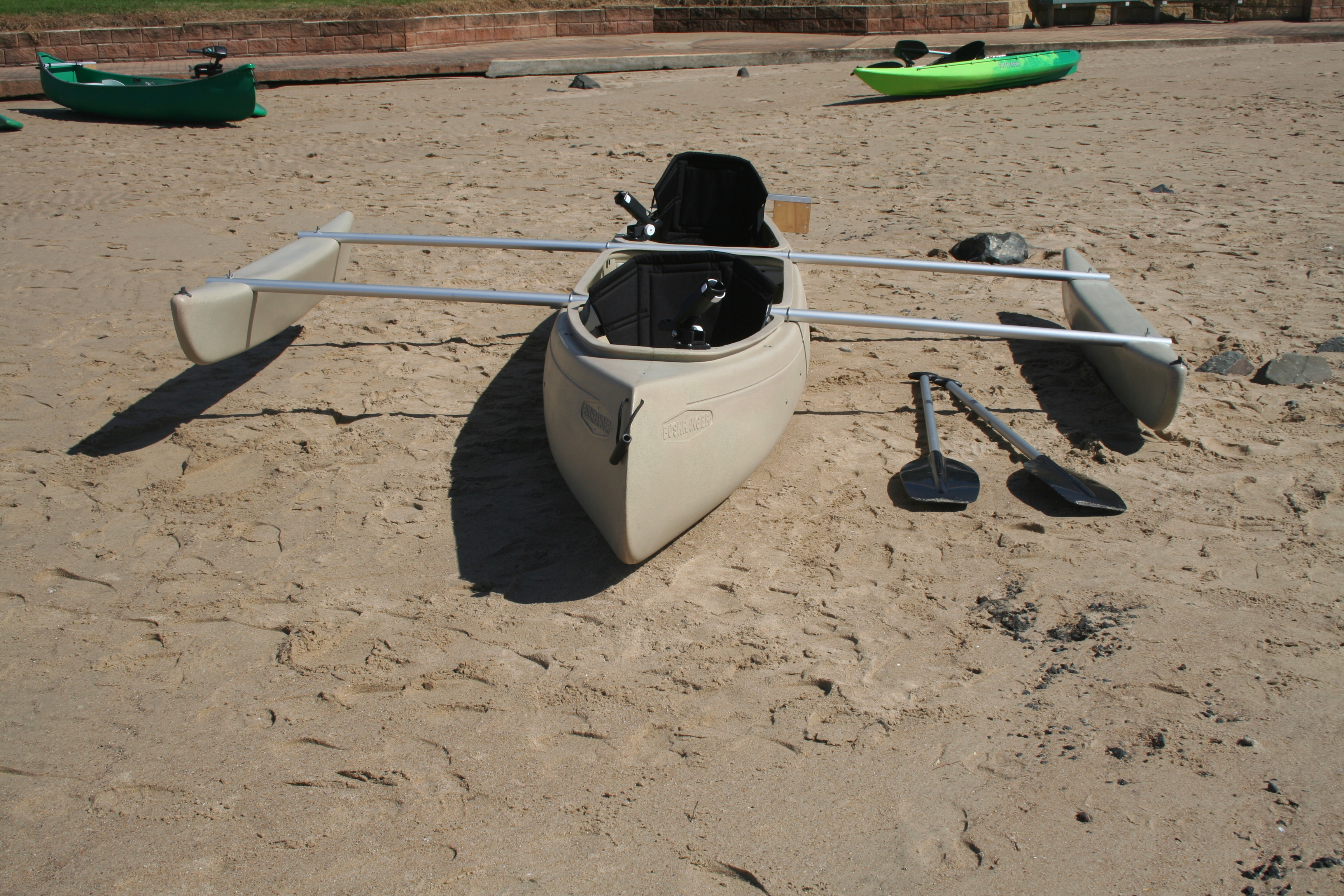 2 seat bushranger angler and fishing canoes made in for Best fishing kayak accessories