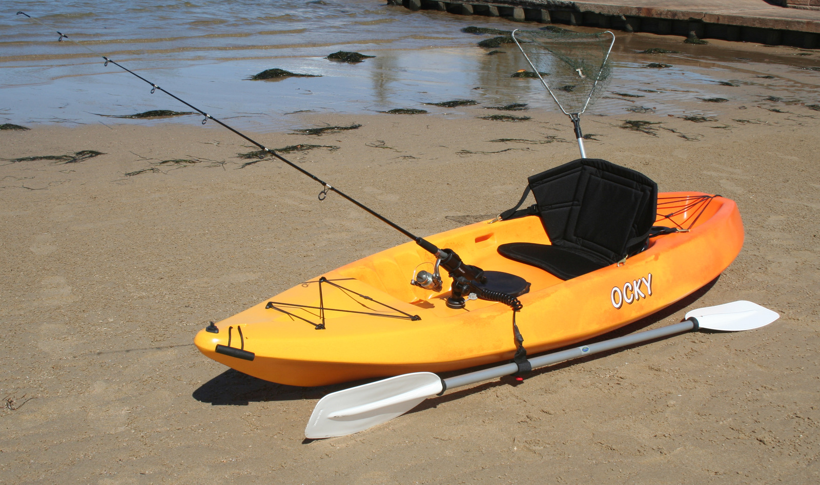 Ocky stackable sit on top fishing kayak made in australia for Best sit on top fishing kayak