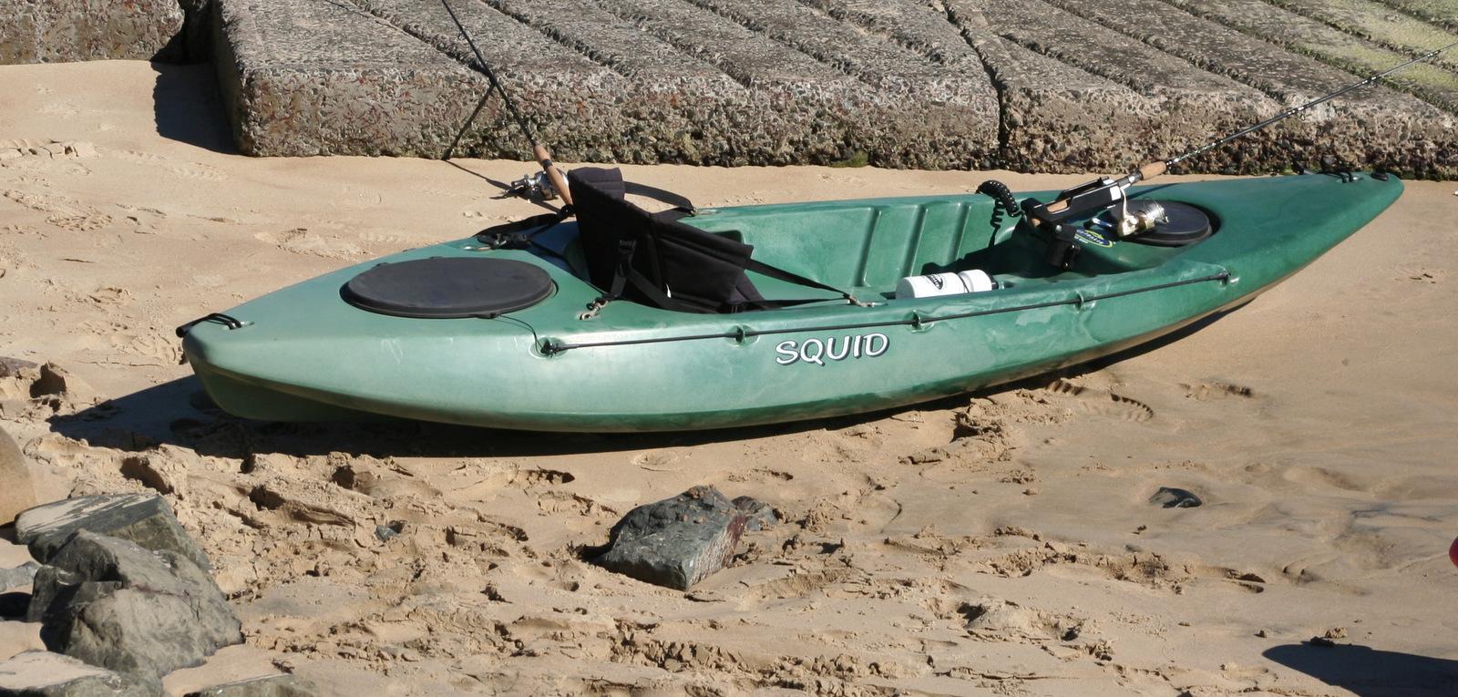 Squid sit on top fishing kayak made in australia by for Sit on fishing kayak