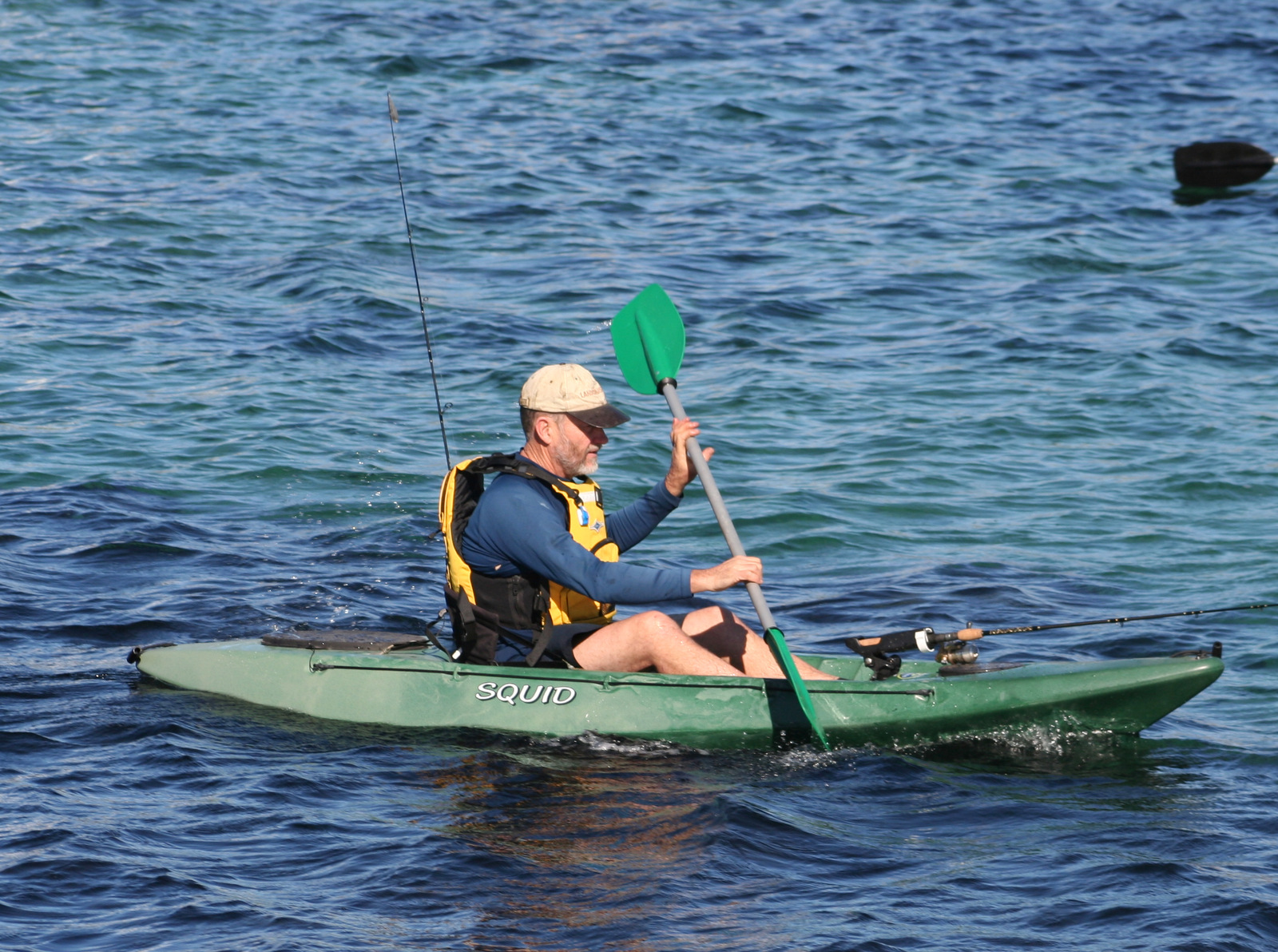 Squid sit on top fishing kayak made in australia by for Best fishing canoe