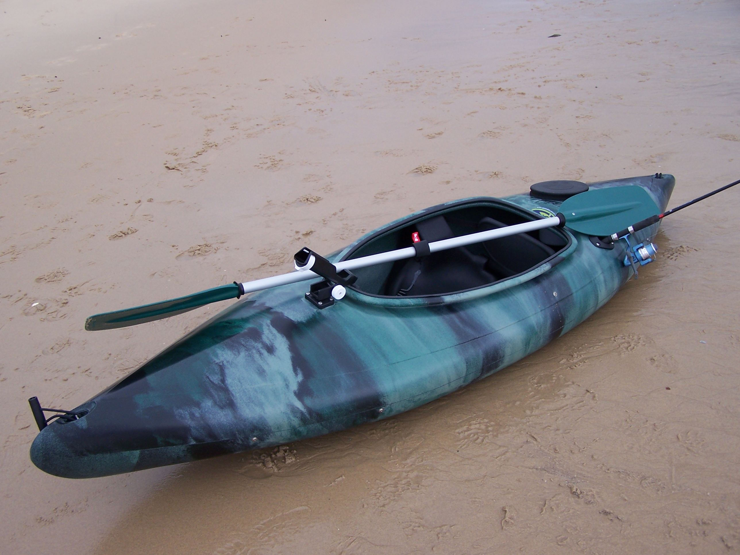 Bass fishing kayaks and angler packages with pod made in for Kayak fishing accessories