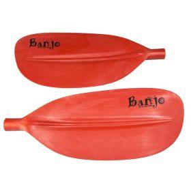 Banjo Split Fibreglass Shaft Kayak Paddle - Red Blades