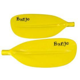 Banjo Split Fibreglass Shaft Kayak Paddle - Yellow Blades