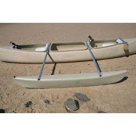 Bushranger 3 seat Standard  Fishing Canoe with Single Outrigger by Australis