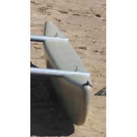 Wing-nuts securing Outrigger Float to poles