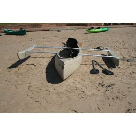 Bushranger 3 seat Deluxe Fishing Canoe with Double Outriggers by Australis