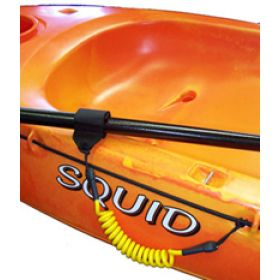 Paddle Leash attached to Squid kayak