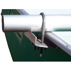 U-Bolt securing outrigger kit to Swagman Canoe