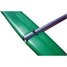Wing Nut securing outrigger float to pole