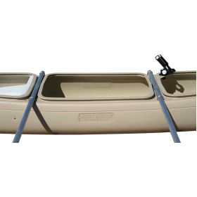 Bushranger 3 seat Deluxe Fishing Canoe with Double Outriggers & Adjustable Rod Holders by Australis